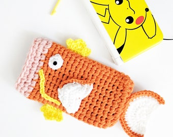 3DS XL case - PS VITA case - nintendo 3ds xl sleeve - 3ds xl cozy - kawaii 3ds case - magikarp pokemon - anime - vegan