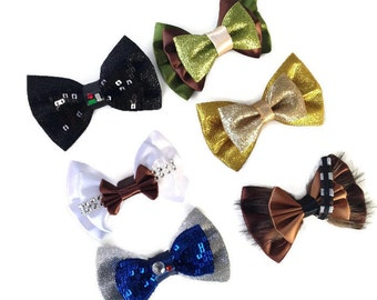 Star Wars Disney Inspired Darth Vader Princess Leia R2D2 Yoda C3PO Chewbacca Hair Bows