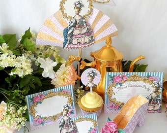Marie Antoinette Printable Party Pack Kit Instant Download