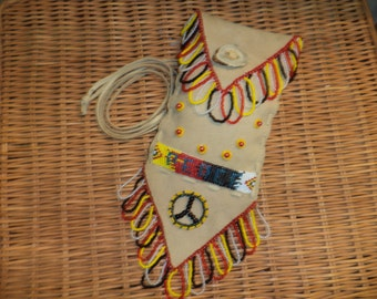 Ready to Ship - Medicine Bag - Loomed and Hand Beaded