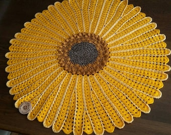 Sunflower blanket Pattern, ~~PATTERN ONLY~~, Crochet Pattern, Flower Crochet Pattern, Sunflower Pattern