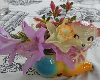 Vintage Ceramic Lamb Planter/Vase