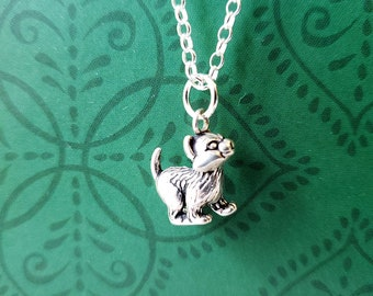 Solid 925 Sterling Silve Kitty Cat Charm 4 grams