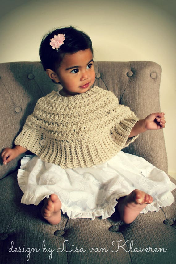Download Now Crochet Pattern Popover Poncho Sizes 0 6 Mos To