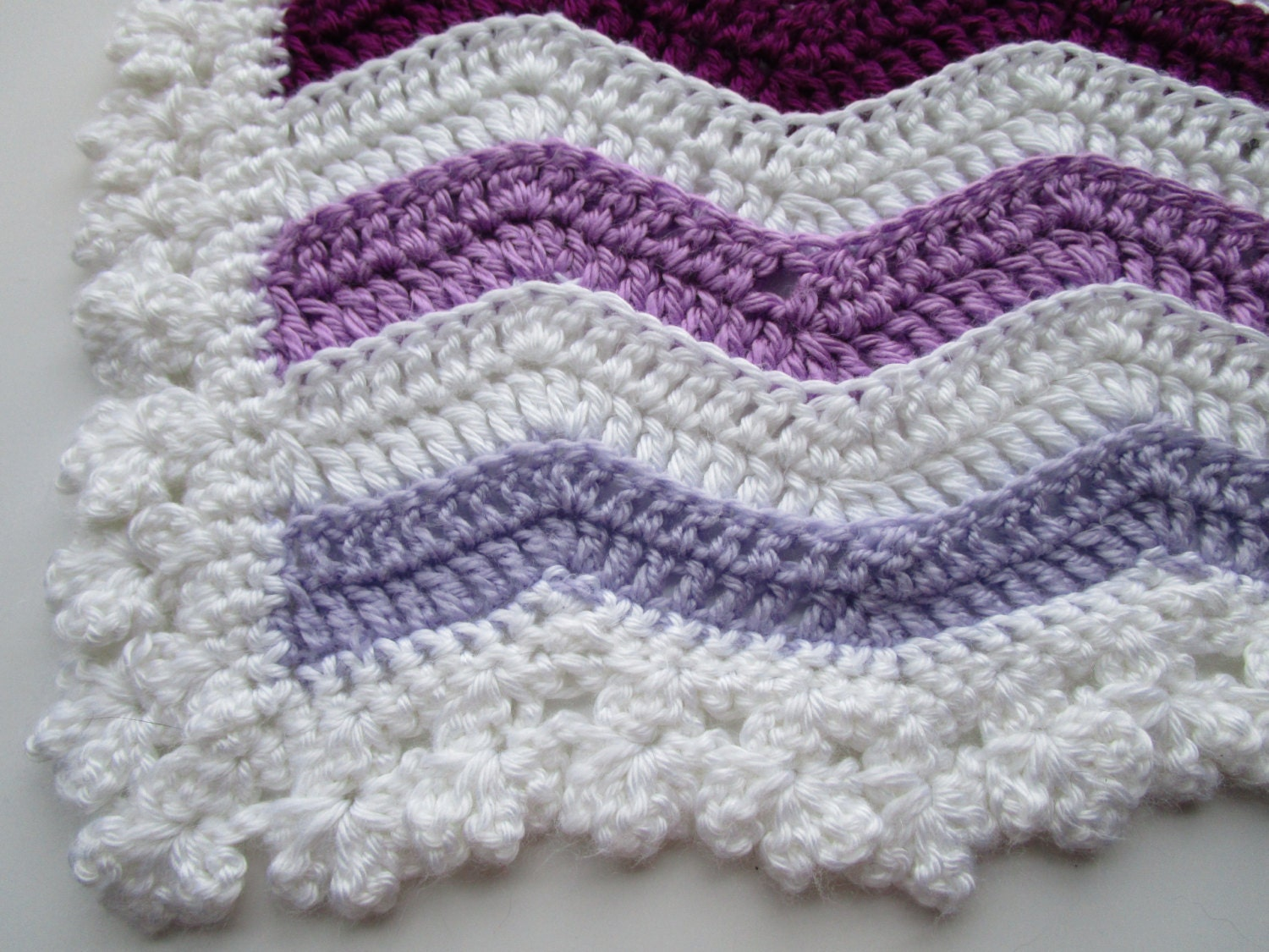 Easy crochet pattern wavey stripe rainbow ripple afghan zoom bankloansurffo Gallery