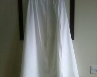Regency/ Victorian inspired white cotton Petticoat. Draw string. Size 20/22 approx