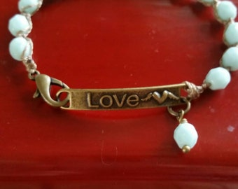Bohemian Love bracelet is a dainty, little piece that is great alone or stacked with your other pieces.