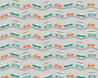 "Wheels 2 C5042 Gray cars roads Riley Blake  100% cotton 43"" wide fabric (H165)"