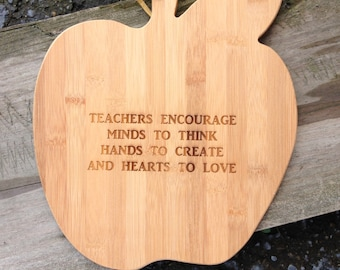 Engraved Apple Cutting Board,Personalized Cutting Board,Shower Gift,Wedding Gift,Anniversary Gifts,Housewarming Gift,Laser Engraved,Award
