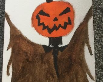 Sleepy hollow pumpkin painting