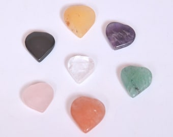 Wholesal GemShop - 15 mm Chakra Heart Set with black pouch with Free Shipping
