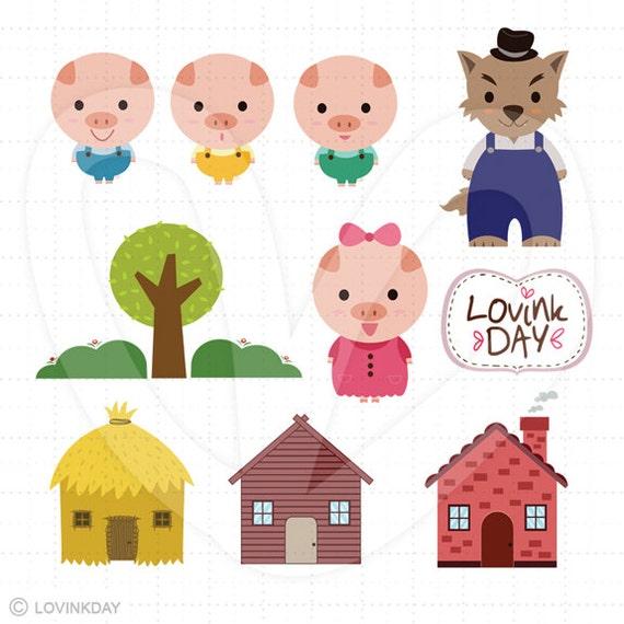 three little pigs clip art set d13014 3 little pigs clipart free 3 little pigs clipart images