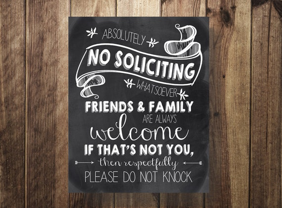 No Soliciting Sign Do Not Ring The Doorbell Sleeping Baby