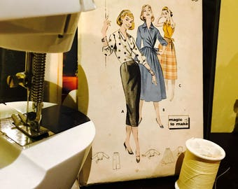 1950's Vintage Sewing Pattern #8423 Bust 32 Size 12.