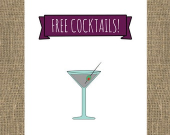 Free Cocktails / Bridesmaid / Maid of Honor / How to Ask Bridesmaid / Will You Be My Bridesmaid / Will You Be My / Asking Bridesmaid / Sassy