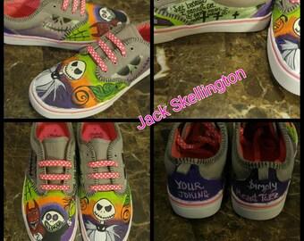 Kid's Jack Skellington custom shoe