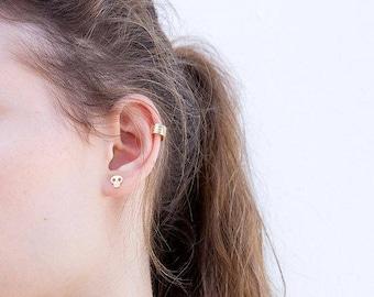 Skull Stud Earrings Cute Skull Earrings, Halloween Earrings, Small Silver Earrings, Silver Stud Earrings, Cute Stud Earrings, Girls Earrings