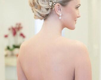 Marilyn | Bridal hair pins - flower crystal and beads hair accessory, hairpin, bridal headpiece, bridal hair accessories, floral hair pins