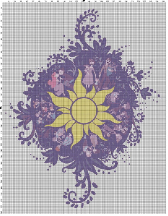 Tangled Sun Embroidery Design