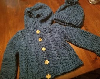 Boy's Crochet Sweater
