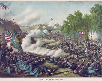 Images of America: The Civil War -  The Battle of Corinth, Mississippi - October 3-4, 1862 - Fine Art Print Reproduction