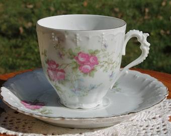Porcelain Teacup and Saucer Set.