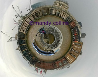 Thames River Boat is an abstract artwork of a river boat on the Thames in London. Fine Art Photography by Mandy Collins