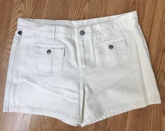CLOSING SALE Vintage 90s white Ralph Lauren Polo shorts