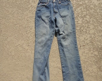 Vintage Bootcut Jeans High Rise Waist sz 5/6R , Retro Jeans, Mom Jeans, High waisted Jeans,Hipster Jeans, ,loose Fit Jeans / Denim Pants