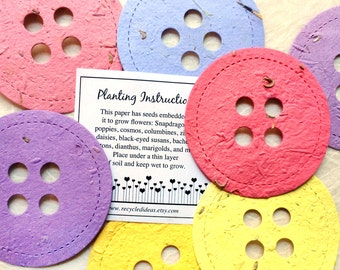 Baby Shower Favors Seeds ~ Elephant baby shower favors plantable seed paper elephants