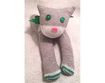 Kitty (gray and green)