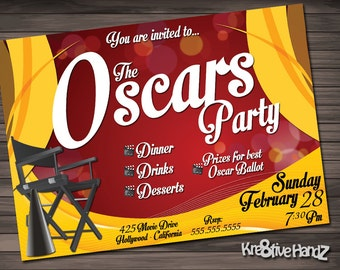 The Oscars Party Invitation Personalized Printable Invite for your award adult theme party