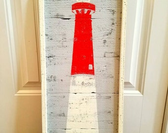 Rustic Lighthouse Wall Art, lighthouse, Barnegat lighthouse, Sandy hook lighthouse, Cape Hatteras lighthouse, Rustic lighthouse, Rustic