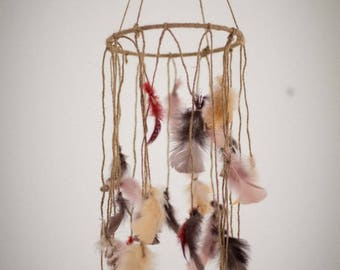Dream catcher mobile or dream feathers noodles
