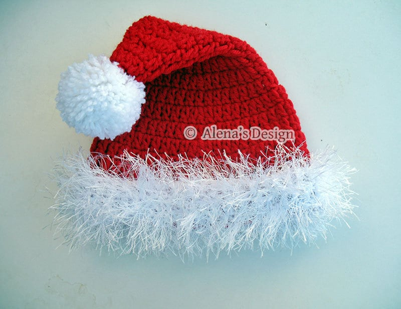 Crochet Pattern 096 Santa Hat from 0-3 months to Teen/Adult ...