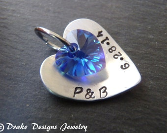 Something blue Bouquet charm Personalized