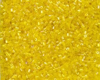 1mm Yellow AB Maco Tube Bead (10 gram) #CZB021
