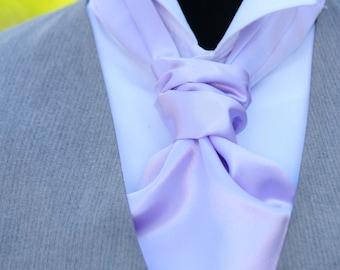 Wedding Mens Ascot Light Purple Lavender Mens Cravat Day Cravat Ascot Tie