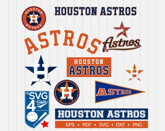 Houston Astros Cut Files, SVG Files, Baseball Clipart, Cricut Houston Astros, Cutting Files, Baseball DXF, Clipart, Instant Download