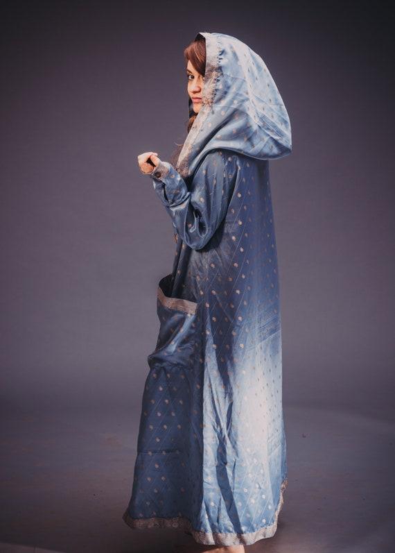 Pale Kimono Blue Robe Majestic Ethnic Unisex rqr4zPw