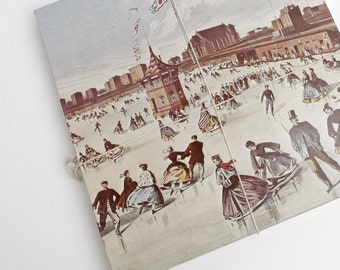 Vintage Union Pond Jigsaw Puzzle, Brooklyn Ice Skaters by Winslow Homer