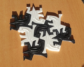 Salamander Escher (3D printing)