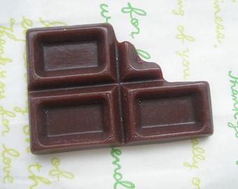 Big Chocolate bar cabochon 1pc Chocolate  C
