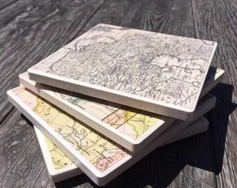Vintage World Map Coasters