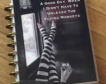 Front and Back Cover Set Flying Monkeys for use with Happy Planner Create 365 *me and my BIG ideas*