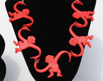 Five Red Monkeys