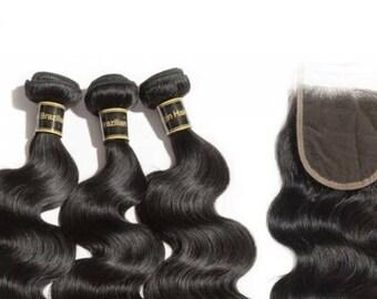 "12""14""16"" quality Brazilian human hair-body wave"