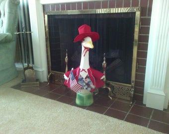 Goose Clothing -  Uncle Sam Patriotic Tux Goose Outfit for Plastic or Concrete Lawn Goose
