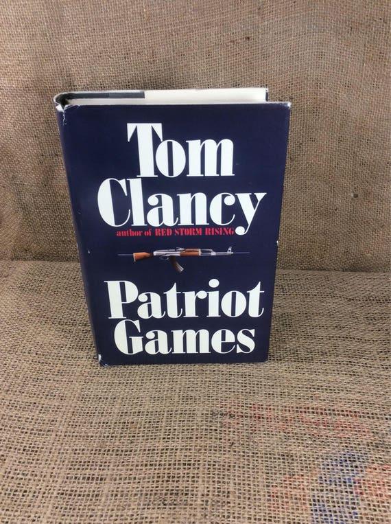 Tom Clancy Patriot Games, hardback Patriot Games 1987, book collectors, bookworm gifts, Tom Clancy fans, vintage books, Jack Ryan