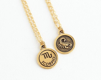 Scorpio etsy mothers day gift scorpio necklace personalized zodiac necklace custom zodiac jewelry astrology mozeypictures Images